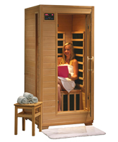 photo of a 1 person steam sauna with carbon heaters